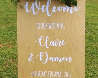 Wedding Sign, Welcome sign, wedding welcome, wedding signage