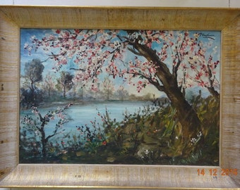 Oil painting on canvas,landscape