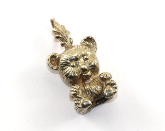 Vintage Little Bear Shape Pendant 925 Sterling Silver PD 1309