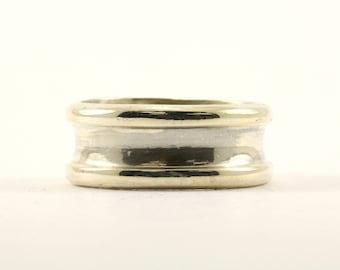 Vintage Men's Taxco Fat Cobalt Wedding Band Ring 925 Sterling RG 1601-E