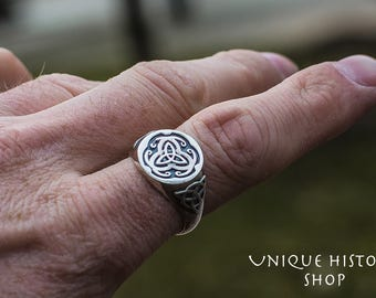 Celtic Triquetra Ring Handmade Sterling Silver Celtic Jewelry