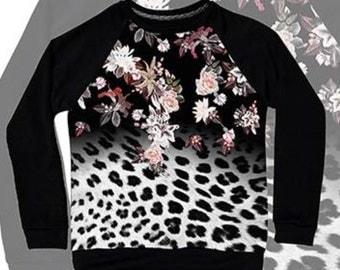 Sale!! leopard print sweatshirt