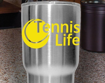 Tennis Life   Yeti Decal, Laptop Sticker, Car Decal   Multiple Colors To Choose From