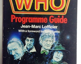 The Doctor Who Programme Guide Volume 1, The Programmes 1983, Doctor Who Tv Series, 80s Doctor Who Memorabilia, Soft Cover Doctor Who Book
