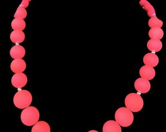 Neon Pink Jewelry - Summer Time Necklace - Trendy Summer Jewelry - Summer Jewelry - Neon Pink Necklace - Neon Jewelry - Neon Necklace - Pink