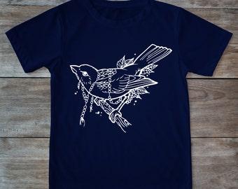 Old school bird, bird shirt, bird tattoo, classic tattoo art, tattoo bird, hipster gift, Tattoo shirt, gift for tattoo lover, traditional