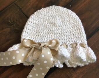 Ruffled crocheted hat