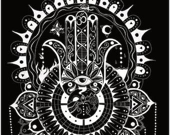 Awakening mandala poster A3