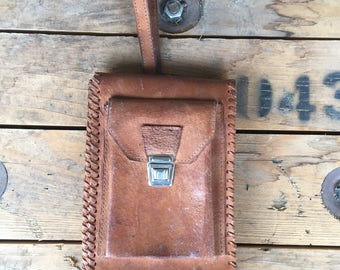 Document Bag, Genuine Leather Bag, Brown Leather Bag, Vintage Leather, Vintage Bag, Vintage Briefcase.