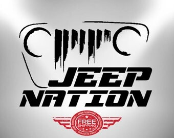 Jeep Decal JEEPNATION / Vinyl Best * Sticker * 2017 Edition /Car,GLASS,WINDOWS,yeti,mud,cellphone.