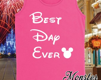 Best Day Ever Matching Disney Vacation Girls Tank Top