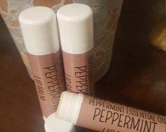 Peppermint Essential Oil Lip Balm