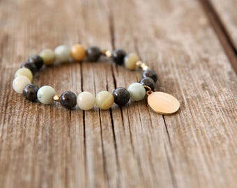 Out of stock! Earth colors bracelet, Gemstone Bracelet, Beaded Bracelet, Stacking Bracelet, Womens Bead Bracelet, Gemstone Bracelet,