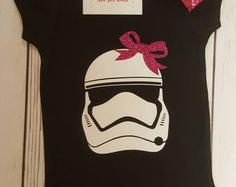 Baby Girl Clothes, Storm Trooper Shirt, Storm Pooper Infant, Star Wars Toddler Outfit