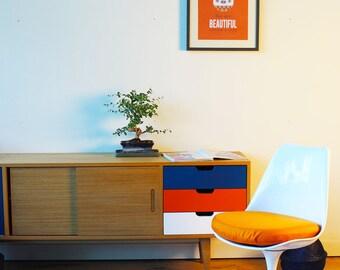 Sitting cushion Chair TULIP - fabric ORANGE