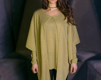 Blouse / black blouse / gray blouse / mustard blouse / cape blouse / lame blouse / different blouse / trendy blouse / elegant blouse