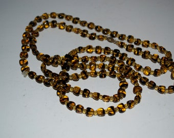 Vintage Amber Glass Necklace 53cm long Stunning Quality Piece