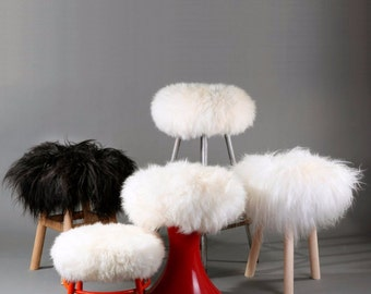 Pure Sheepskin Stool Covers! Round / Square / Rectangle - Many sizes!!!