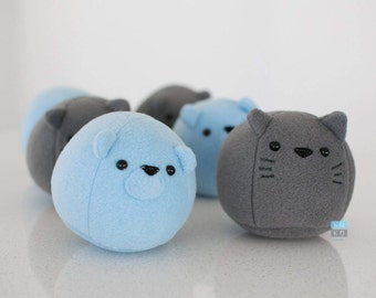 Bear and Cat Plushies