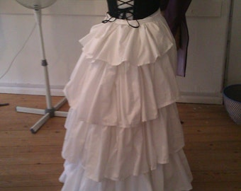 Bustle cage and petticoat
