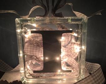 Personalized Glass Block Light