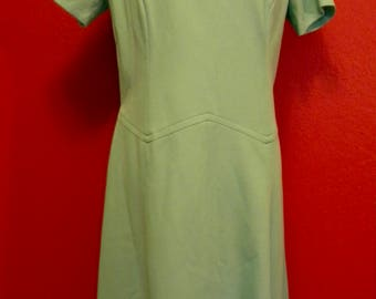 Vintage *Plus Size* Seafoam Dress
