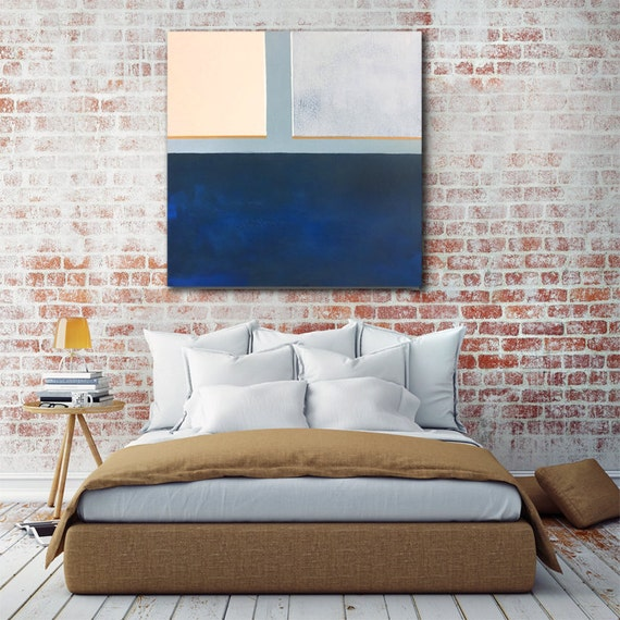 Abstract Blue Color Block