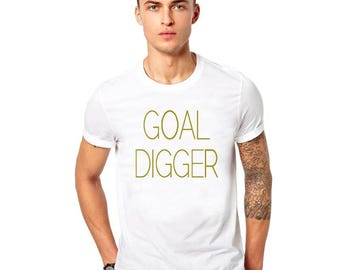 Goal Digger motivation T Shirt Tee Gym Shirt workout fitness cross fit crossfit clothing
