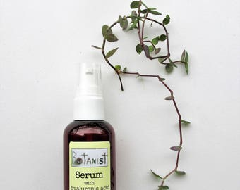 Anti-Aging Hydrating Serum with Hyaluronic Acid and Green Tea | Oil-Free | Handmade | Vegan