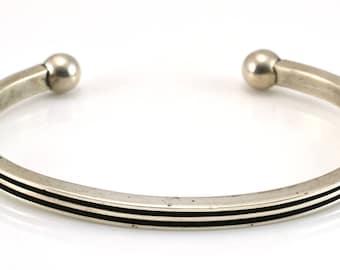 Modernist Bracelet, Cuff Bracelet, Taxco Bracelet, Sterling Bracelet