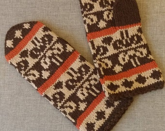 Knitted mittens Women gift