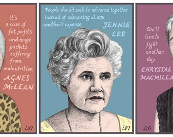 Scottish Women in Politics: THREE Signed Giclee Prints. Save when you buy all three!