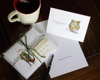 Animals Enjoying Coffee Notecards - 10 pack