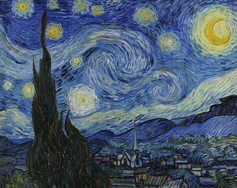 Starry Night--Van Gogh Painting Museum Quality Reproducton