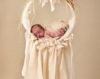 Newborn Ivory Dream Catcher Digital Backdrop