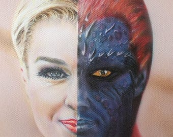 Portrait airbrushing mystique X-men