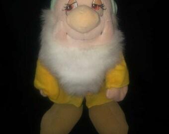 "Disney White Bashful Soft Plush Stuffed Doll Snow And The Seven Dwarfs 12"""
