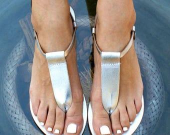 CHLOE 6 sandals/ Greek leather sandals/ t-strap sandals/ ancient grecian sandals/ handmade sandal/ Greek flats/ thong sandal/ silver sandals