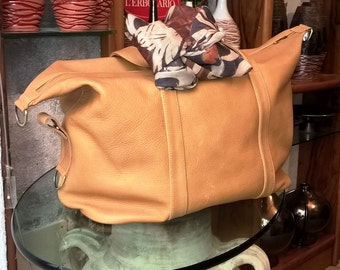 Handmade Leather Bag with strap