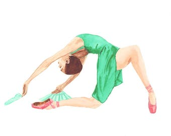 Ballet Dancer Dressed in Green