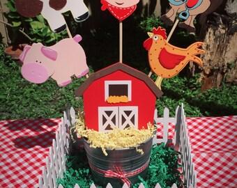 Farm party centerpiece