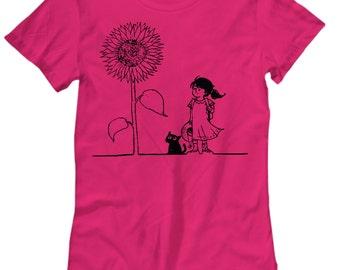 Sunflower Girl Womens Tee Shirt