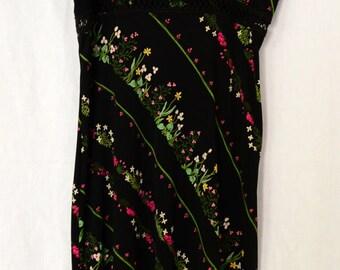 90s Vintage floral Dress BCBG