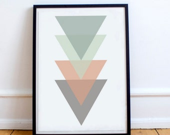 Triangle, Triangles, Triangles colorful, Poster, Printable Poster