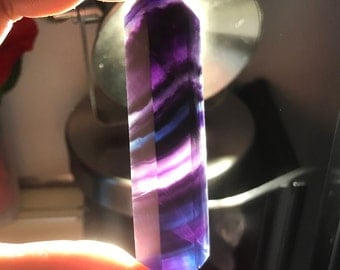 "2.75"" Rare Black Flourite Tower"