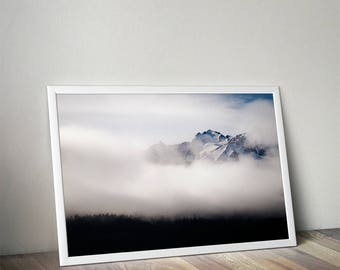 Waking dream - Mountain and mist photography | Fine art for frame | Landscape Prints Alaska USA Hahnemühle Photo Rag paper | fog and nature