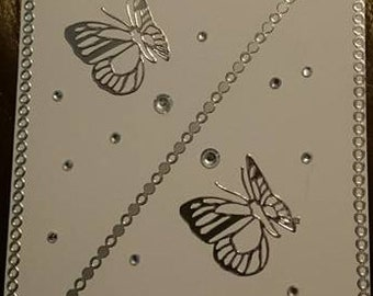 Handmade butterfly card, Ideal for birthdays or any other special occasions