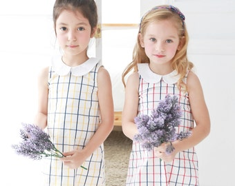 Adult Version-Mother & Daughter Matching Dress : Windowpane A-Line Dress