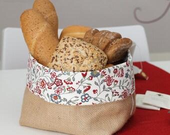 Burlap Bread Basket
