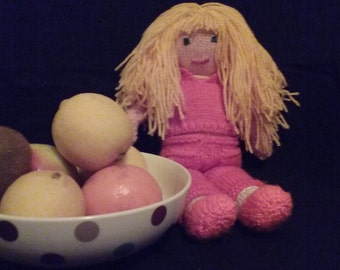 Pinky - Knitted Doll